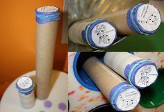 para hacer modelos de constelaciones con tubos de cartón