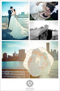 Wedding photography by Tatiana Valerie, Artvesta Studio. Post-wedding photo shoot in Long Island City, New York. #NYC Wedding Photography