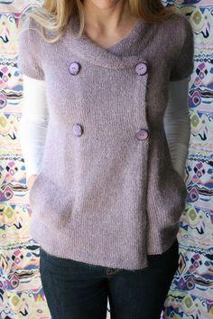The Yarniad Koukla Cardigan Knitting Pattern + Free Shipping at NobleKnits!  Veste Femme Tricot, c8359de30b4
