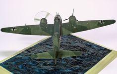 Ju 88 A-17 in distress 1/72 Scale Model