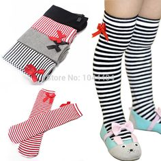 Hot Cotton Kids Baby Bowknot Stripes In tube 1-8Y Girls Dress High Stocking Free Shipping #>=#>=#>=#>=#> Click on the pin to check out discount price, color, size, shipping, etc. Save and like it!