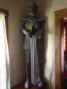 foam-knight - 7' tall...5 hrs to make, cost $35.00