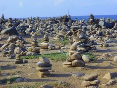 Aruba wishing stones! We actually saw this on our many trips to Aruba for the first time and left our wishing stone stacks! Really neat!