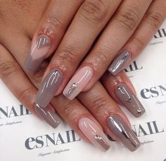 Taupe a n d nude nails