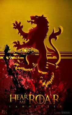 """""""Hear Me Roar"""" - House Lannister"""