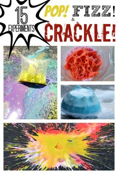 15 Science Experiments that POP, FIZZ and CRACKLE | Perfect for the a SUMMER BLAST!