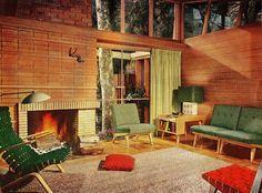 1951 living room design from Better Homes  Gardens.