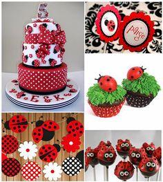 My Own Party Ideas; Ladybug 1st Birthdays, First Birthdays, Baby Birthday, 1st Birthday Parties, Festa Lady Bag, Miraculous Ladybug Party, Ladybug Cakes, Wilton Cake Decorating, San Antonio