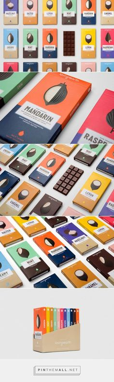 Loving Earth chocolate packaging designed by Round (Australia)…