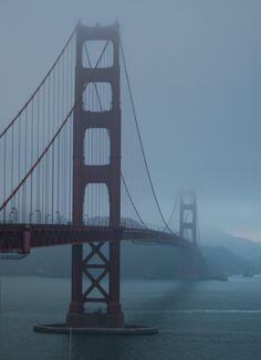 Golden Gate Bridge - San Francisco - California by Angela Sevin #sanfrancisco #sf #bayarea #alwayssf #goldengatebridge #goldengate #alcatraz #california