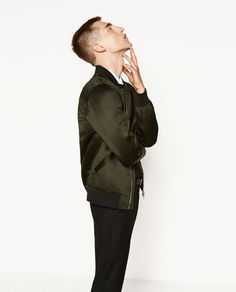 ZARA - MAN - SATEEN BOMBER JACKET
