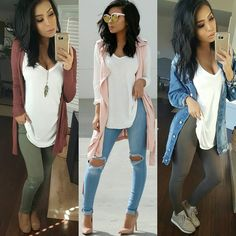 "4,189 Likes, 59 Comments - Monica Gabriela (@itsmsmonica) on Instagram: ""1 top, 3 different looks  which one is your style? I love me a simple white top, endless…"""