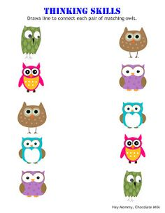 """Owl and letter """"O"""" worksheets"""