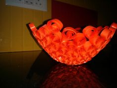Quilled lampshade