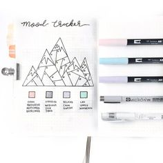 *BEFORE THE PEN* Thought I would try a new mood tracker for March. I'm loving this so much! PS. I love the white Unibal pen so much to fix…