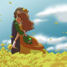sooo cuuuute! you never see this romantic side of Luigi and Daisy :-)
