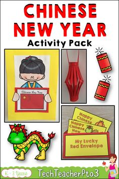 Bring the celebration of Chinese New Year into your classroom with this handy activity pack. Inside this pack you will find all you need to create fantastic learning walls for your students including vocabulary cards, paper lantern, red envelope, wall display materials and worksheets. #chinesenewyear #teacherspayteachers #activities #teacher #resources