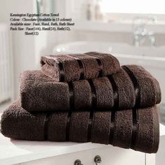 Kensington Egyptian Chocolate Hand Towel Bath Towel &Bath Sheets – Linen and Bedding