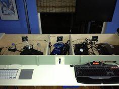 Hidden Peripherals Standing Desk