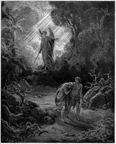 Adam and Eve Driven Out of Eden, 1865 - Gustav Dore engraving