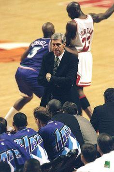 Michael Jordan Chicago Bulls Bryon Russell Utah Jazz NBA Finals Jerry Sloan