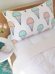 Ice cream pillow to put on chairs or couches if we had a little couch with a coffee table in front of it to sit on