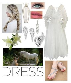 """contest: dreamy dresses"" by dtlpinn on Polyvore featuring Zandra Rhodes, Sharon Khazzam, Wrapped In Love, Boucheron and Victoria's Secret"
