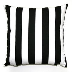 Premier Prints Black and White Striped Pillow by Modernality2, $16.95