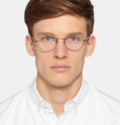Oliver Peoples - Overstreet Round-Frame Metal Optical Glasses