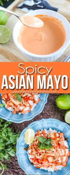 This spicy mayo is the perfect compliment to many asian dishes or even dipping french fries! It combines the zesty flavor of sriracha and lime with the creaminess of mayo for the perfect dipping sauce (Spicy Bake Fries) Sushi Recipes, Spicy Recipes, Asian Recipes, Cooking Recipes, Healthy Recipes, Delicious Recipes, Easy Recipes, Poke Sauce Recipes, Spicy Poke Recipe
