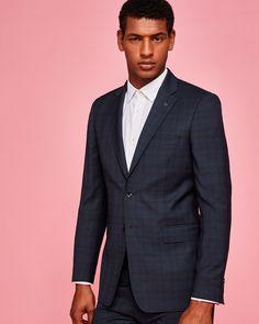 Ted Baker Debonair Check suit jacket Teal