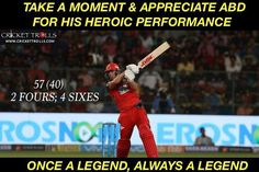 AB de Villiers' guides Royal Challengers Bangalore to their 1st win of the season #IPL2018 #RCBvKXIP - facebook.com/MyCricketTrolls
