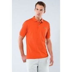 lacoste men polo shirt orange