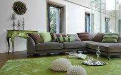 Teintes douces pour ce séjour design