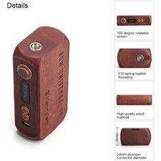 Kamry 80W UTC Wooden Box Mod with 100 - 300C / 7 - 80W / Ni200 / Ti / SS / Normal Wire E Cigarette Vape Mod
