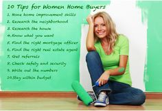 ‪#‎Tips‬ for women ‪#‎home‬ buyers. ‪#‎Radiantstructures‬.