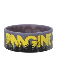 Imagine Dragons Forest Rubber Bracelet   Hot Top dude this is gorgeous yes i would totally wear this