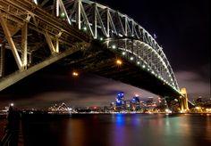 Australia cityscape skyline at night