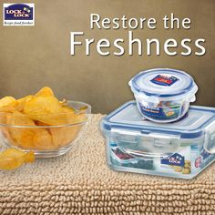 Everyday Munchies shall stay fresh and Crunchy only with Lock & Lock India Containers!