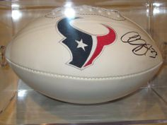 Arian Foster Houston Texans Signed Autographed Logo Football Comes with Coa Also Free Case Included by riddell. $179.99. this item is a new logo full size football. This item will come  with a Certificate of Authenticity . you will be 100% happy or your money back .