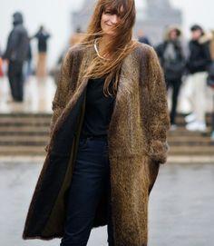 caroline de maigret  wear fake fur