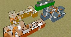 Cargo Container Homes Interiors | ... 480 sq ft Shipping Container Floor Plan Concept | Cozy Home Plans