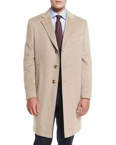N42TS Lubiam Double-Breasted Wool-Blend Pea Coat, Camel | Coats ...