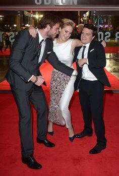 These 3 are too cute :) | 51 Times In 2013 Jennifer Lawrence Proved She Was Master Of The Universe