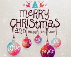 Merry Christmas and happy new year fonts 2014