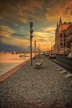 Budapest at Sunset. Beautiful Places In The World, Most Beautiful Cities, Amazing Places, Places To Travel, Places To See, Capital Of Hungary, Hungary Travel, Little Paris, European Tour