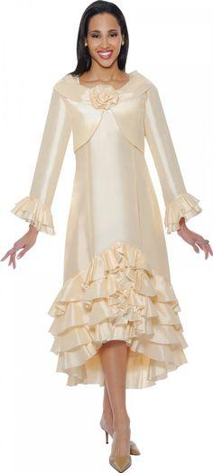 Taffeta Jacket Dress By Nubiano DN5412 - Divine Church Suits