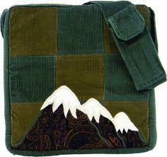 "Patchwork Corduroy Mountain Bag 11"" x 11"""