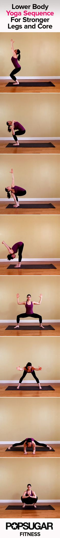 Yoga Sequence for Stronger Legs and Core. Perfect for cyclists, runners, and snow bunnies!