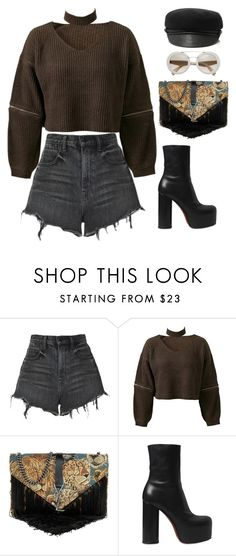 """""""Sienna"""" by mikaylaperrine ❤ liked on Polyvore featuring Alexander Wang, Chicnova Fashion, Yves Saint Laurent, Vetements and Eugenia Kim"""